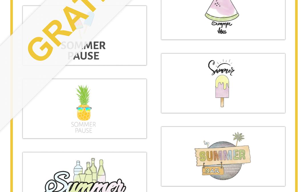 Kostenlose Zeichnungen und Illustrationen für Ihre Sommer-Aktion
