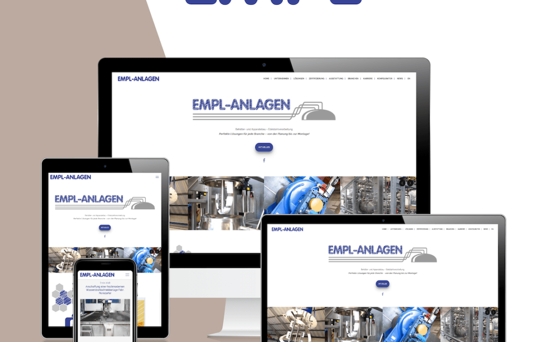 Neue Website für unseren langjährigen Fullservice-Kunden, die Empl Anlagen GmbH & Co. KG