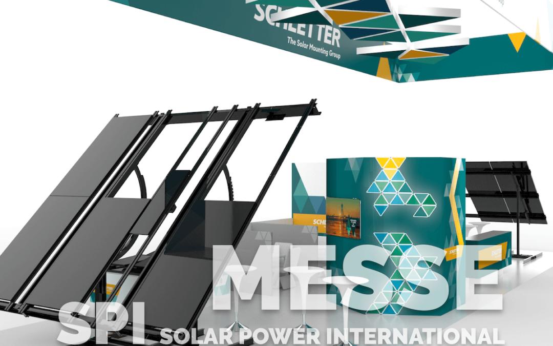 Schletter Solar GmbH: Messeplanung, Konzeption und Standdesign für die SPI (Solar Power International) in Salt Lake City