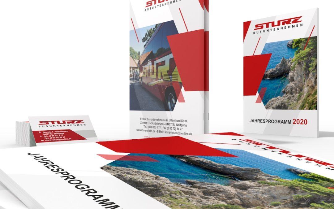 Website und Reisekatalog für das Busunternehmen STURZ aus Sankt Wolfgang